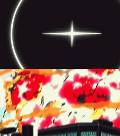 十字クロス光 爆発