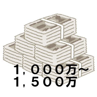 年収1,000~1,500万円