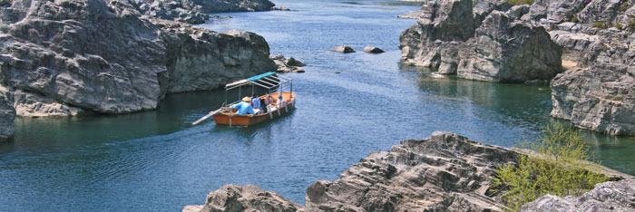 美濃田の渕 遊覧船